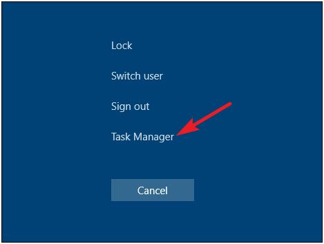 task manager shortcut
