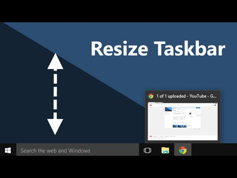 How to make taskbar icons bigger in Windows 10